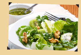 Salad topped with Healthy Walnut